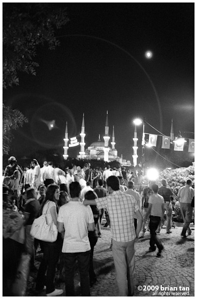 Centre of old Istanbul on a Ramadan night