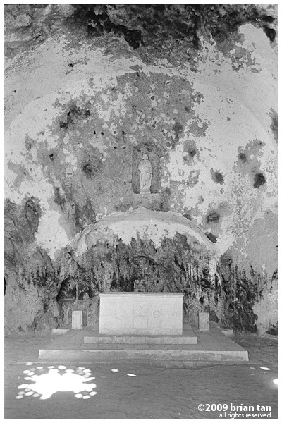 Cave church altar. Its from the last century, which is not that long ago...