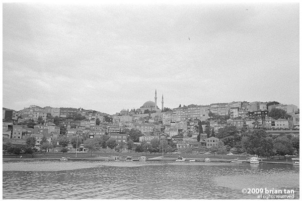 View of old Istanbul from the golden horn ferry