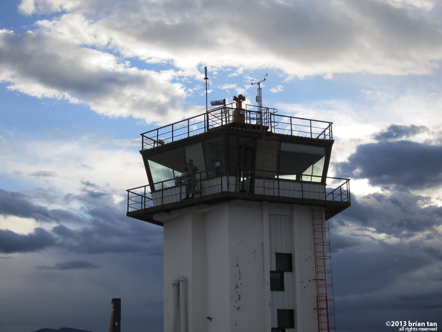Control tower at Teniente J Gallardo Airport just outside of Puerto Natales