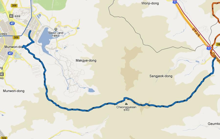 Section 1: Seoul Land to Gyeongbu Expressway