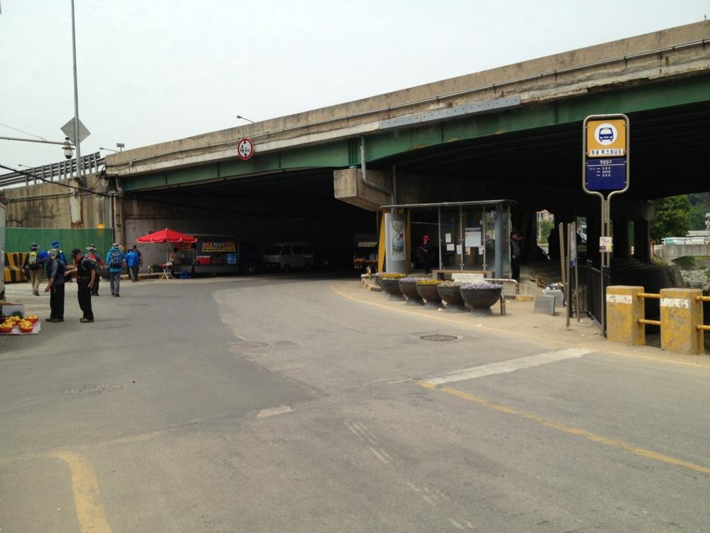 Going under the Gyeongbu Expressway