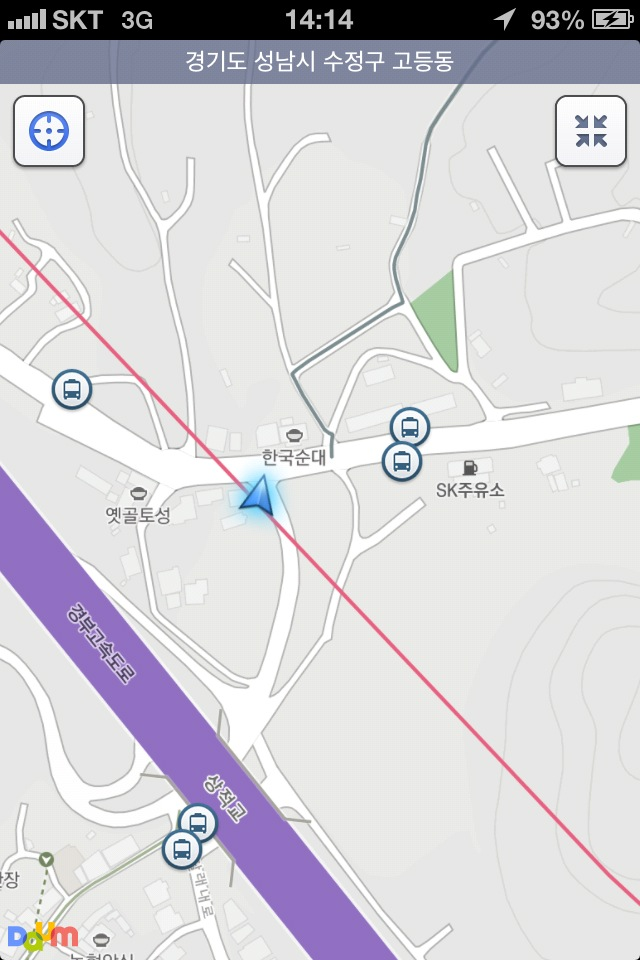 Navigating using Daum Maps