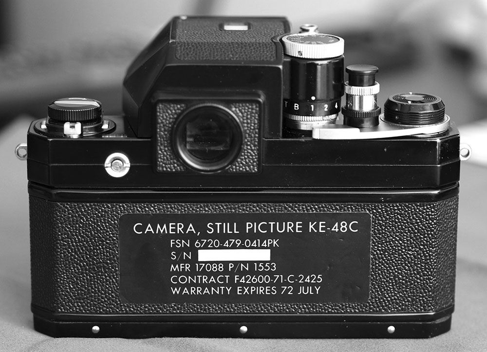 The business end of this camera is the backplate. Without that sticker, its just a plain old Nikon F.