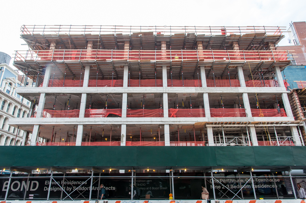 The east facade along Lafayette Street.