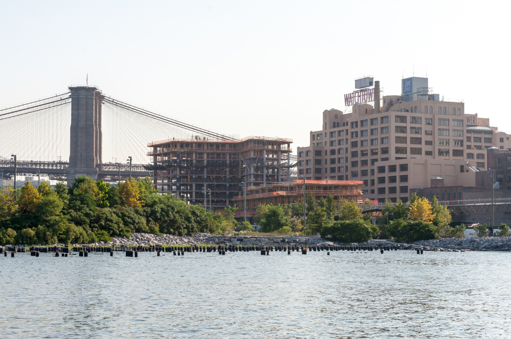 The Pierhouse from Pier 2 of Brooklyn Bridge Park.