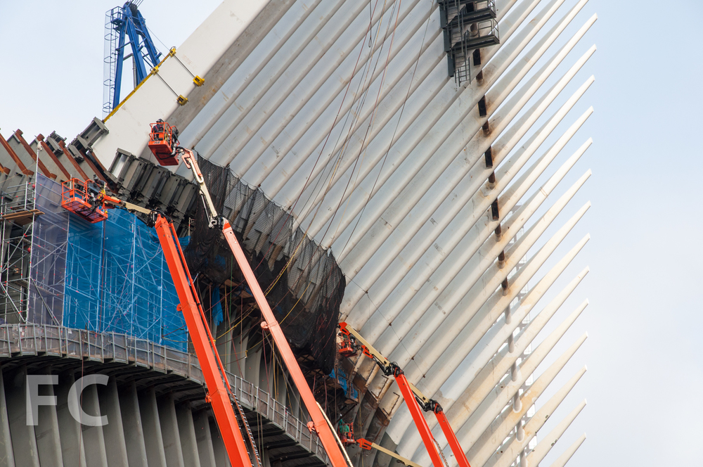 The wing of the WTC Transit Hub.