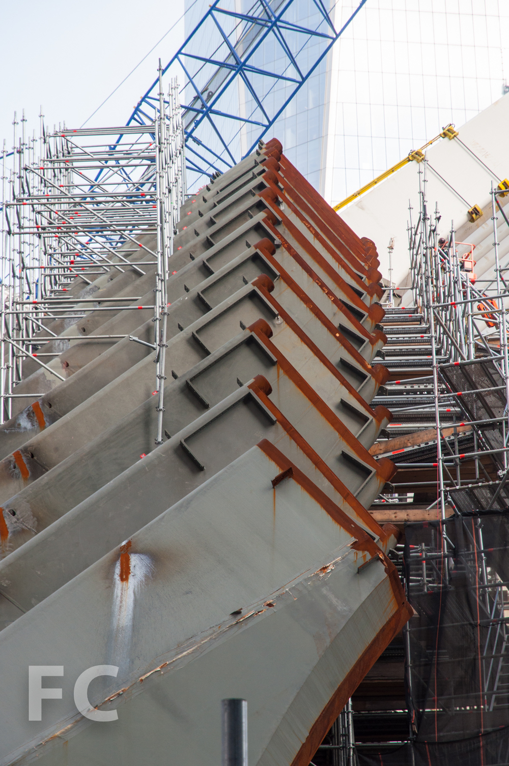 The ribs of the WTC Transit Hub.