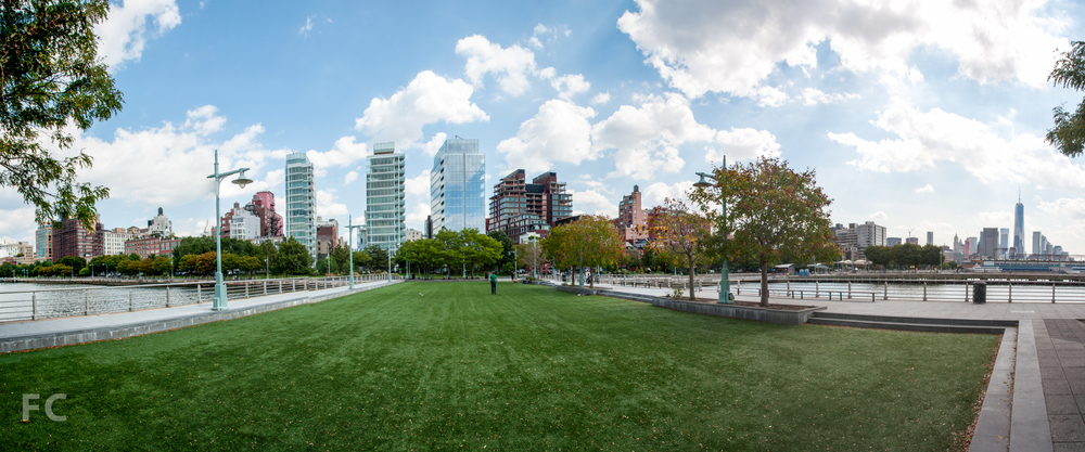 View from Pier 46 at the Hudson River Park.