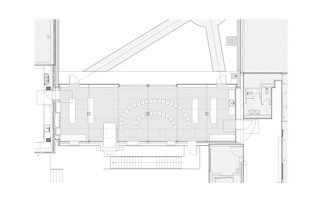 Plan of greenhouse. © WORKac