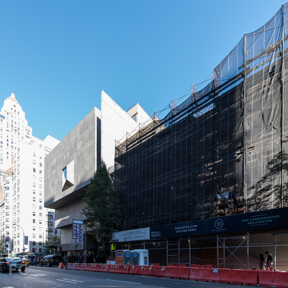 The southwest corner from Madison Avenue. October 19, 2014.