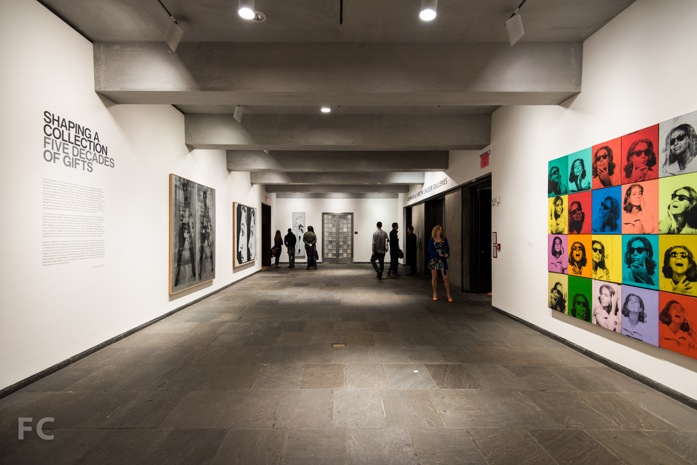 The fifth floor galleries.