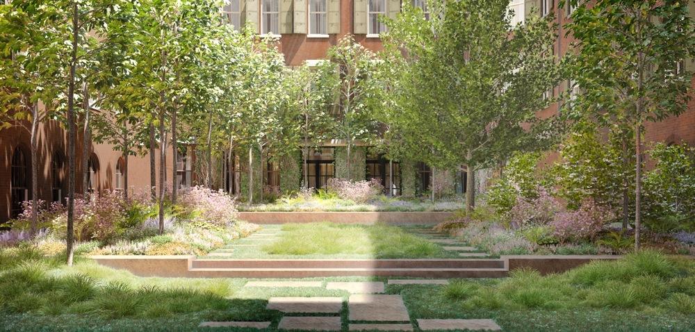 Courtyard. © Hayes Davidson.
