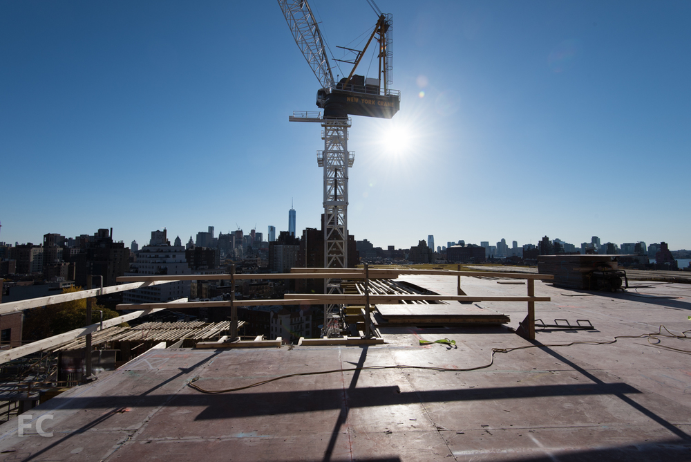 Concrete slab formwork at 155 West 11th Street.