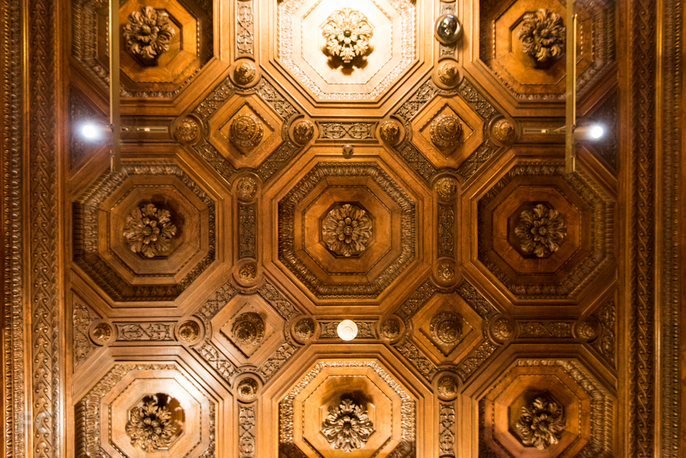 Ceiling detail of the Great Hall.