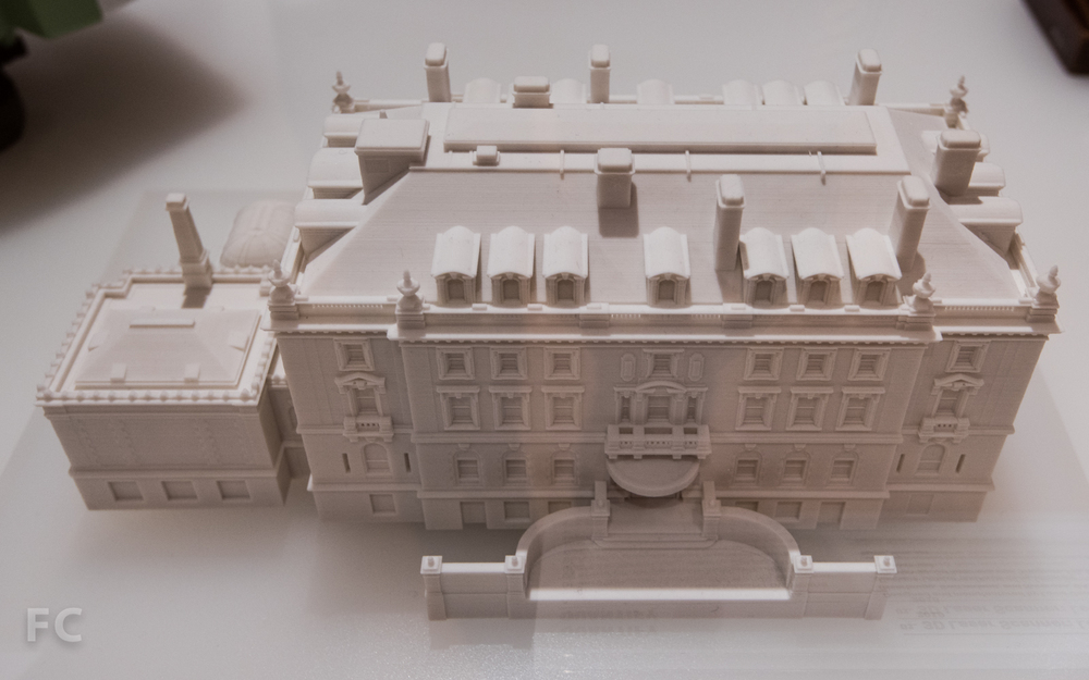 3D print model of the Carnegie Mansion.
