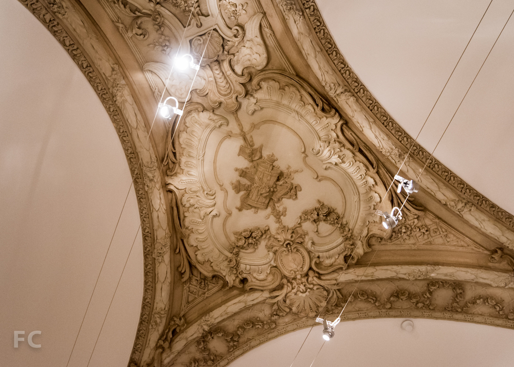Detail of the Marks Gallery ceiling.