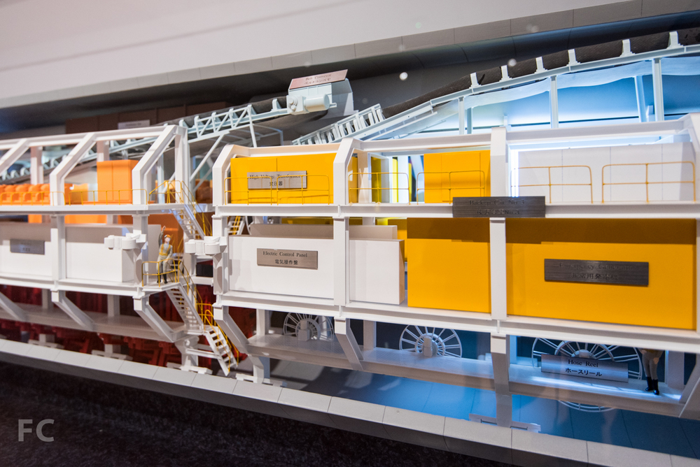 Detail of tunnel-boring machine model.