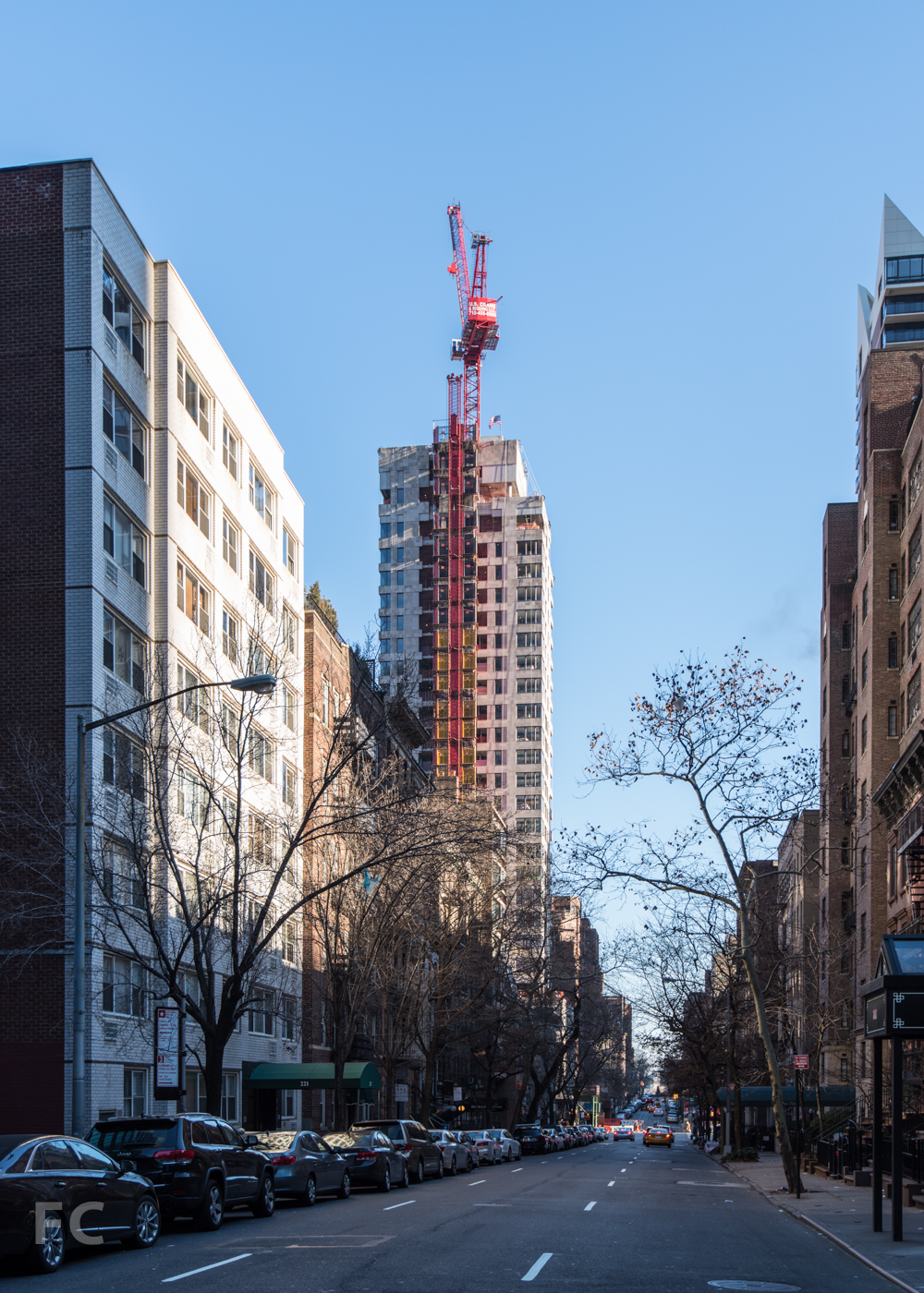 Looking east on East50th Street.