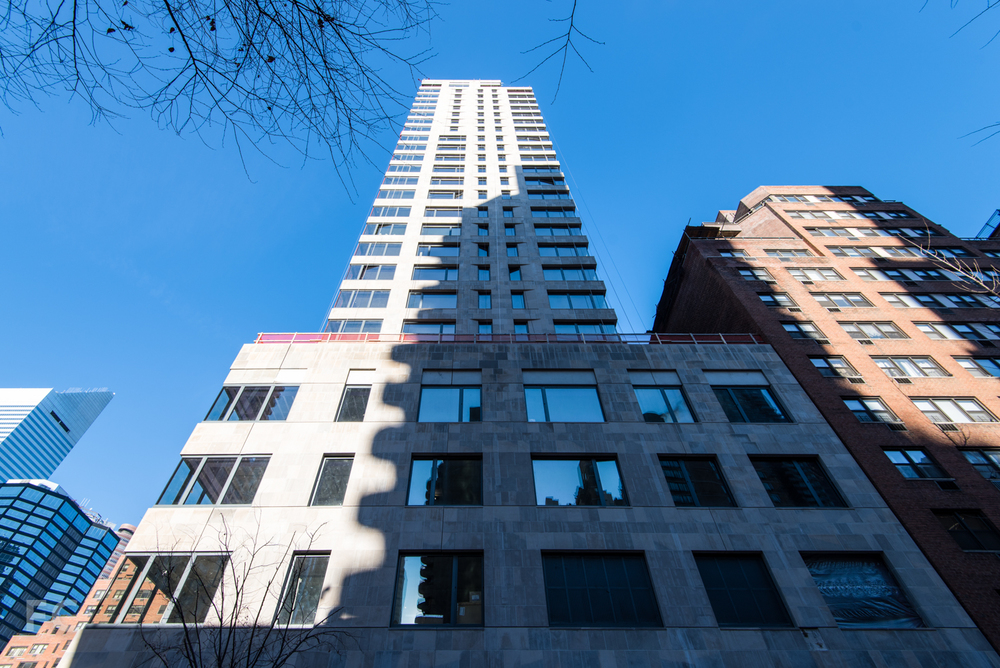 South facade from East 50th Street.