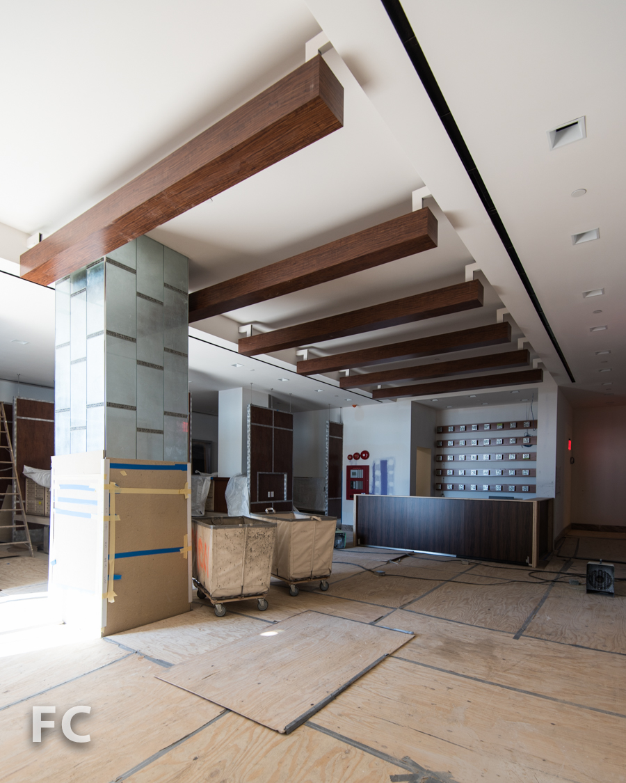 Future lobby of Hunter's Point South Crossing.