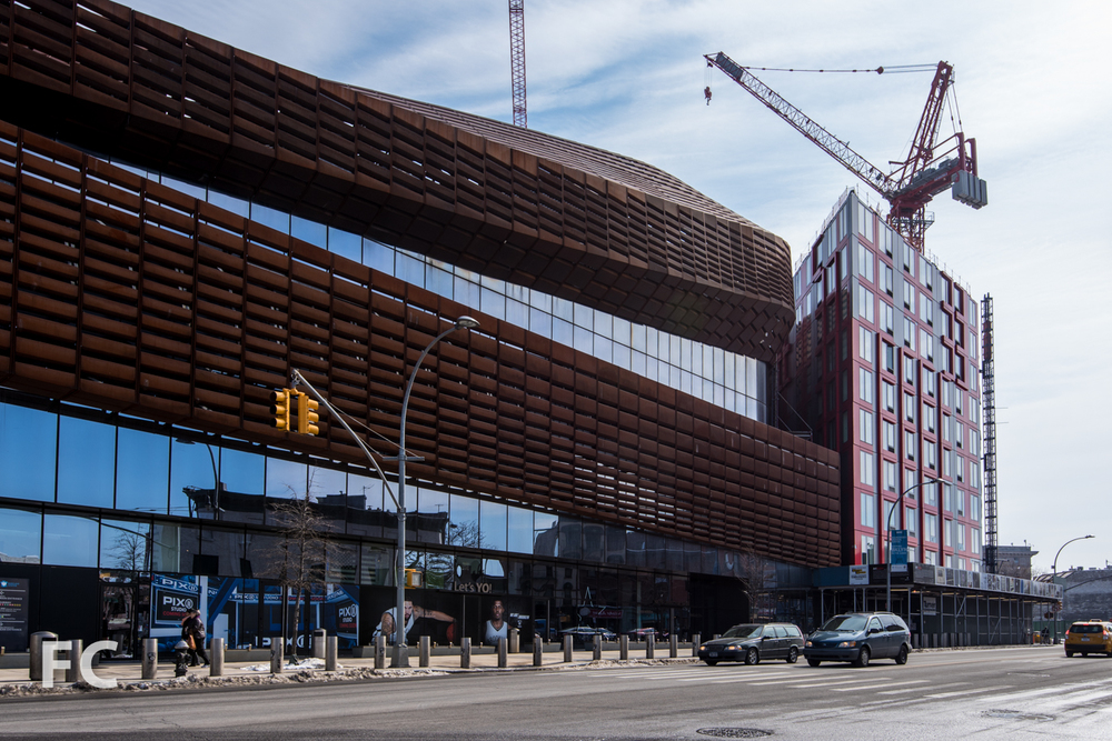 Northwest corner of 461 Dean (right) and Barclays Center (left).