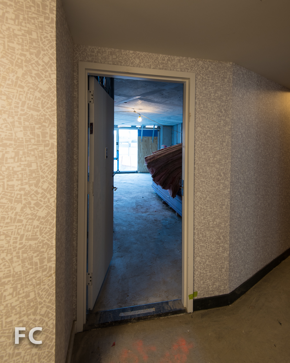 Typical residential corridor mockup.