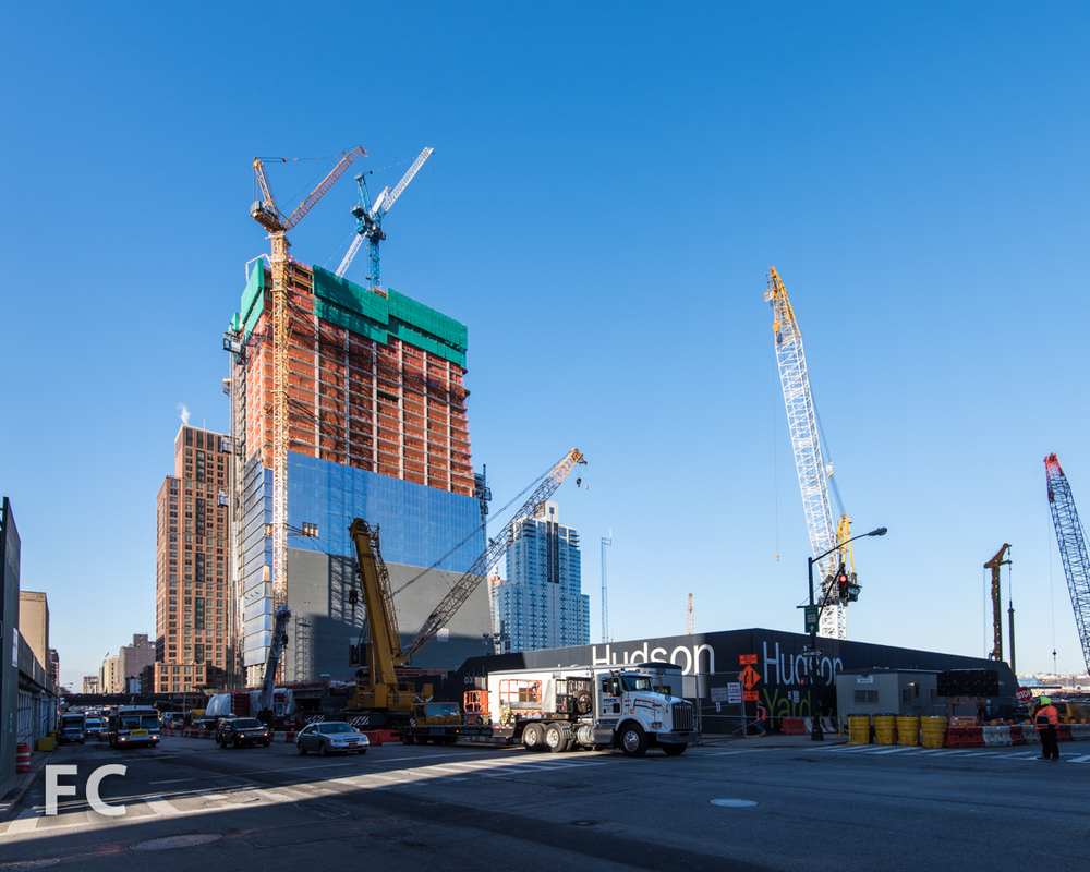 Northeast corner of the Hudson Yards site.