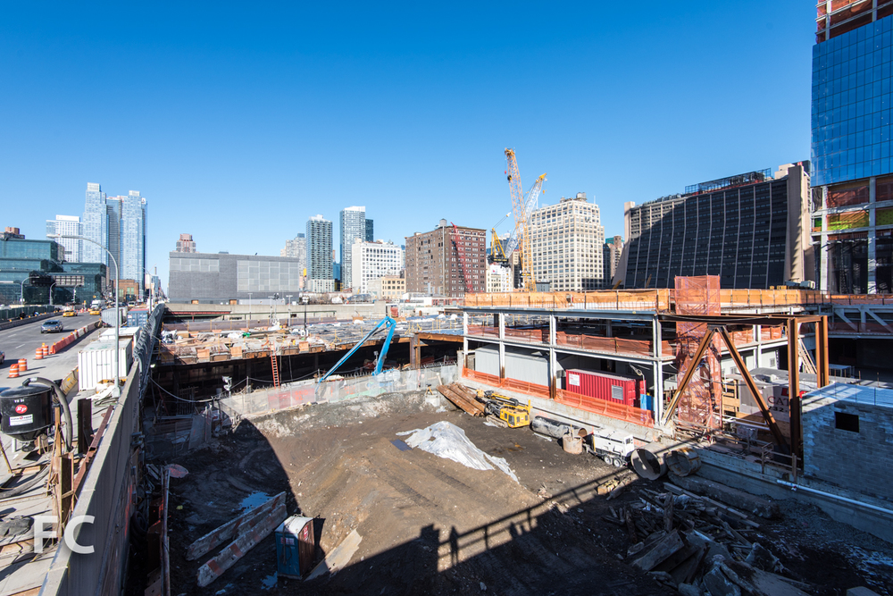 Construction site for 15 Hudson Yards.