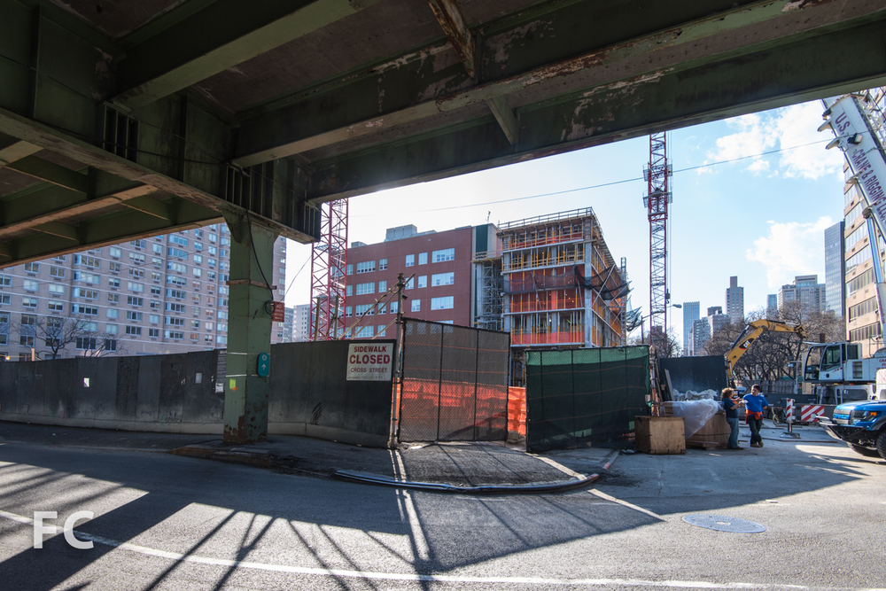 Northeast corner of the site from FDR Drive.