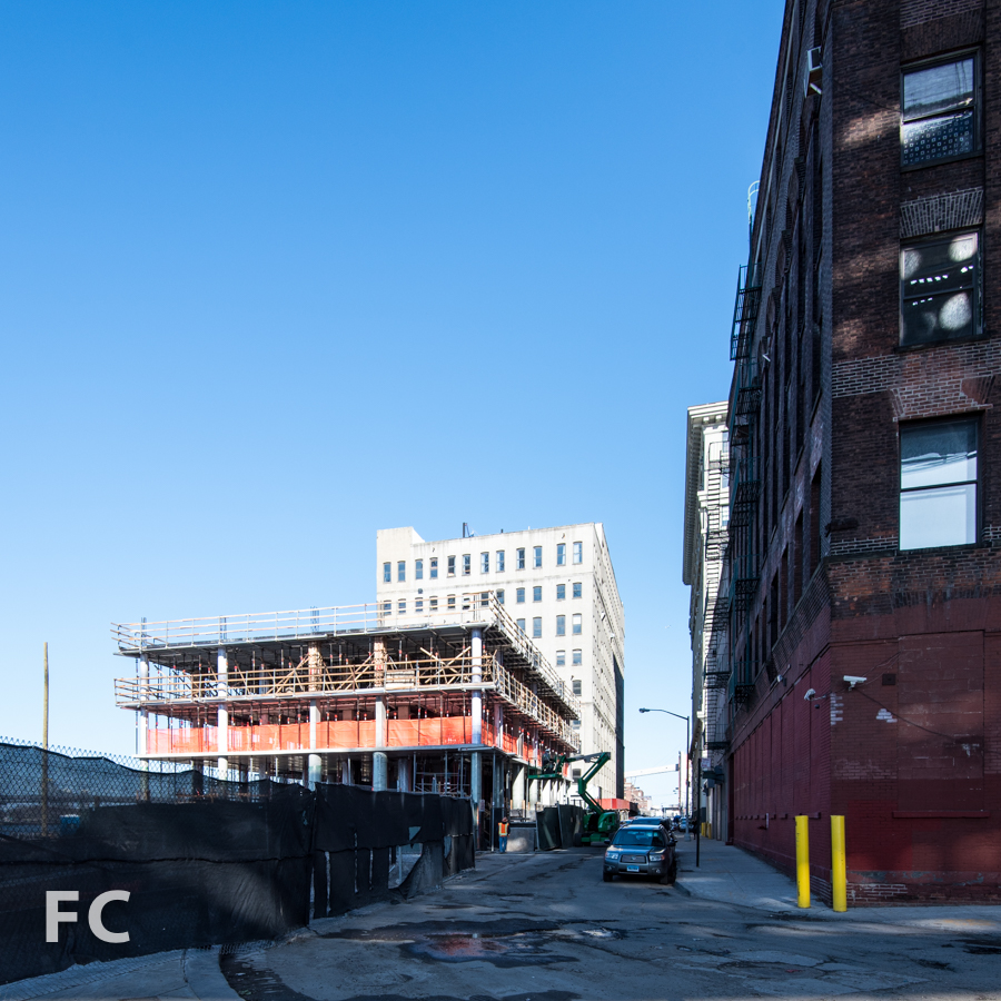West facade from John Street.
