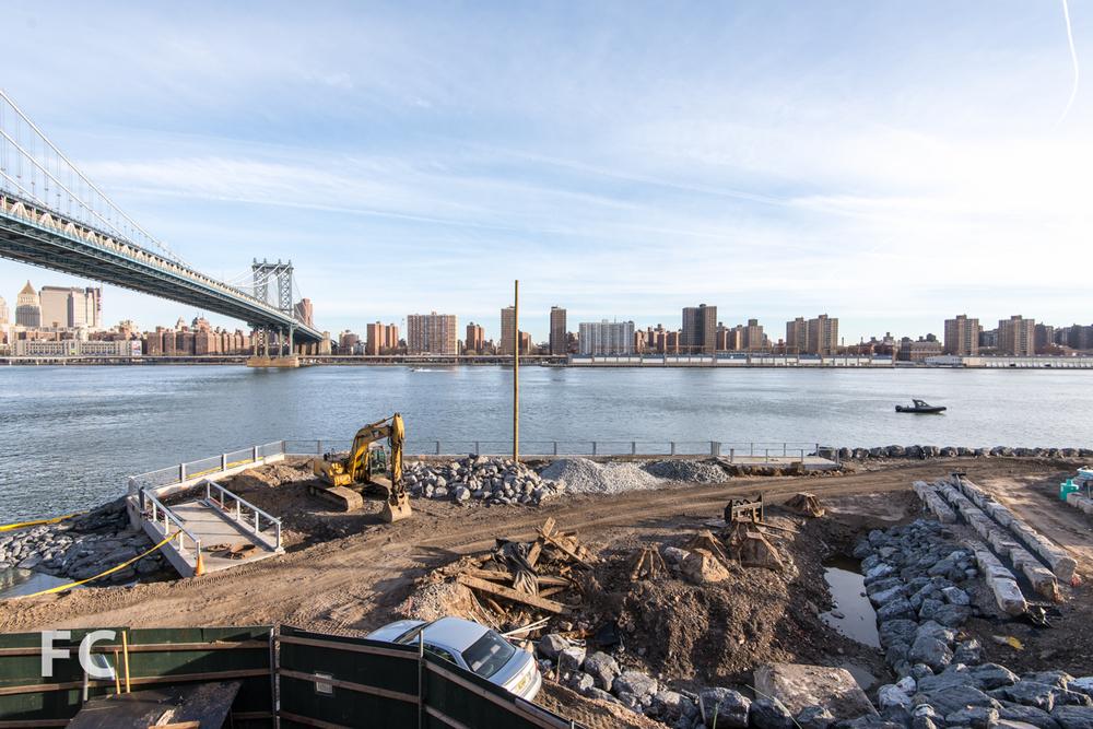 View of John Street Parkunder construction from 1 John Street.