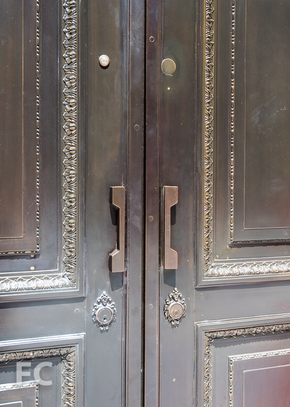 Entry door detail.