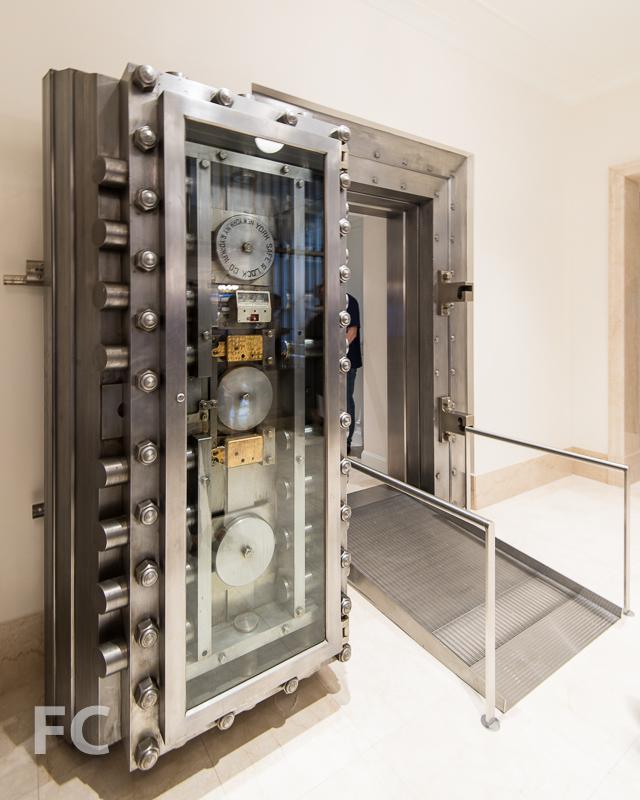Original vault door.