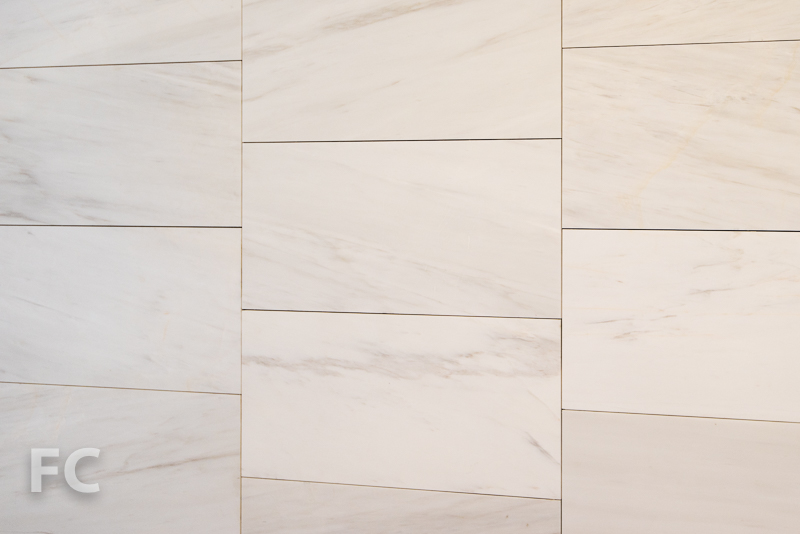 Master bathroom wall tile.