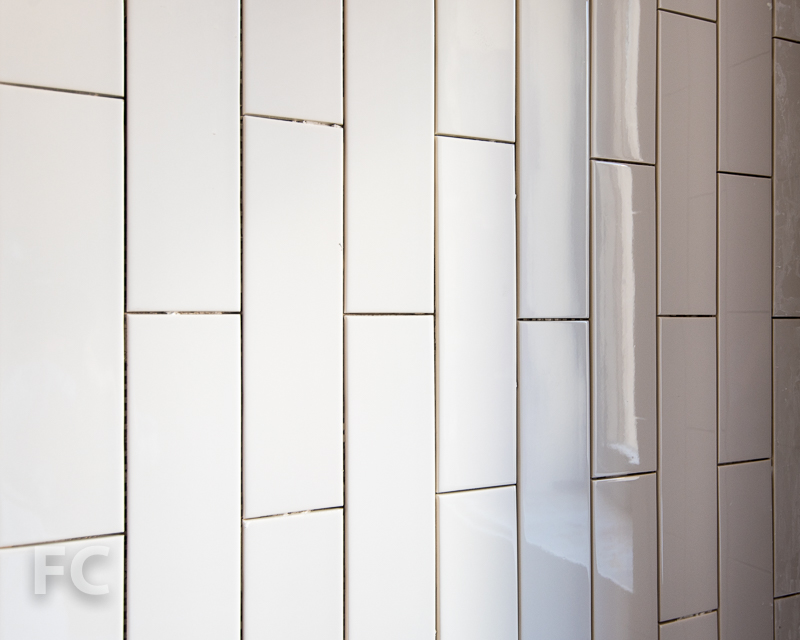 Secondary bathroom wall tile.