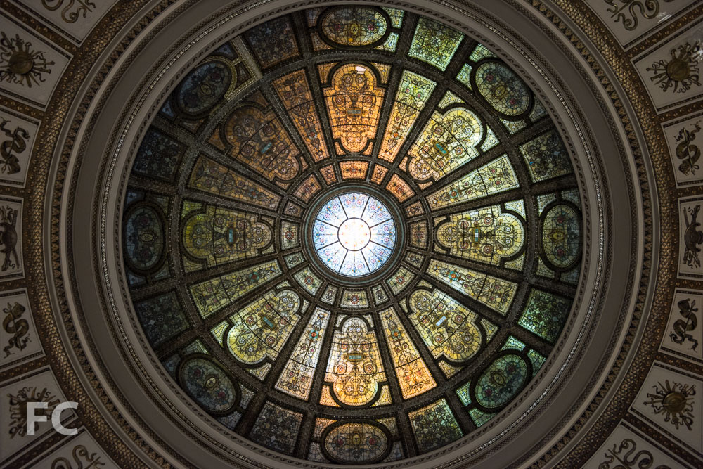 The Tiffany dome.