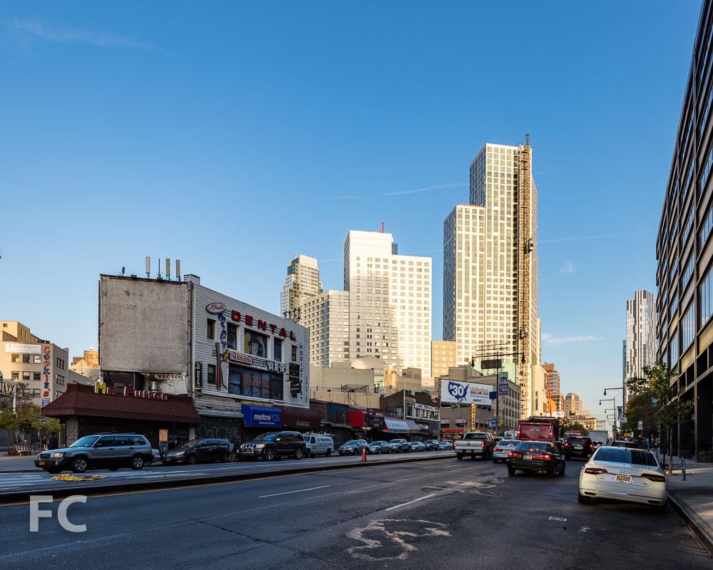 Looking north on Flatbush Avenue at Fulton Street.