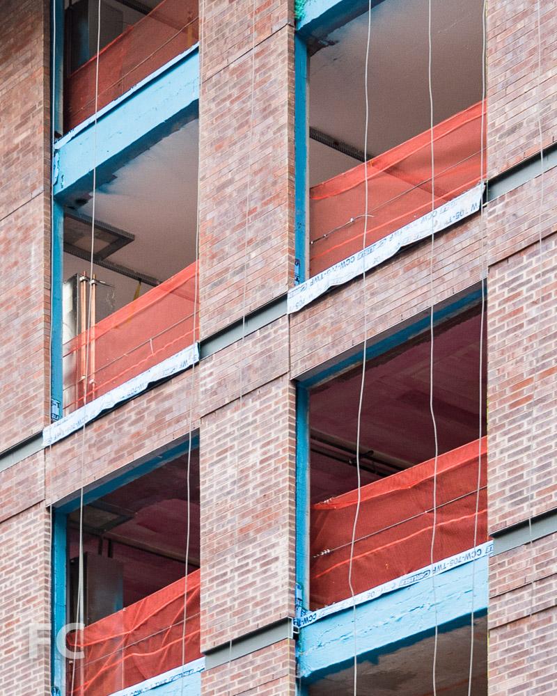 Brick façade detail.