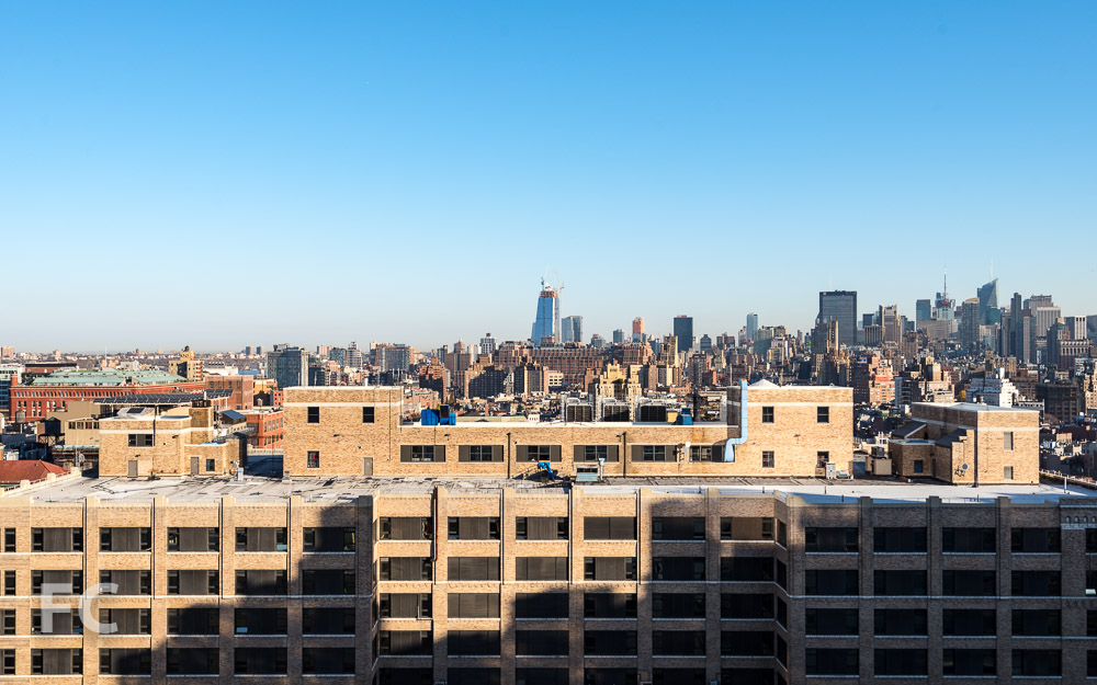 View north toward Midtown from the Charlton Street tower penthouse.