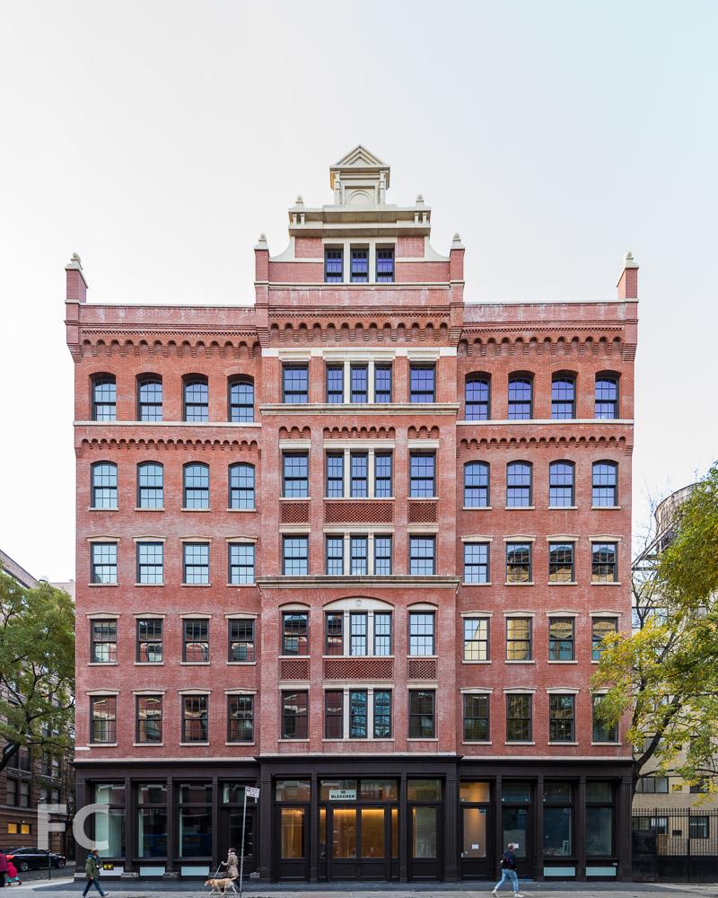 North facade from Bleecker Street.
