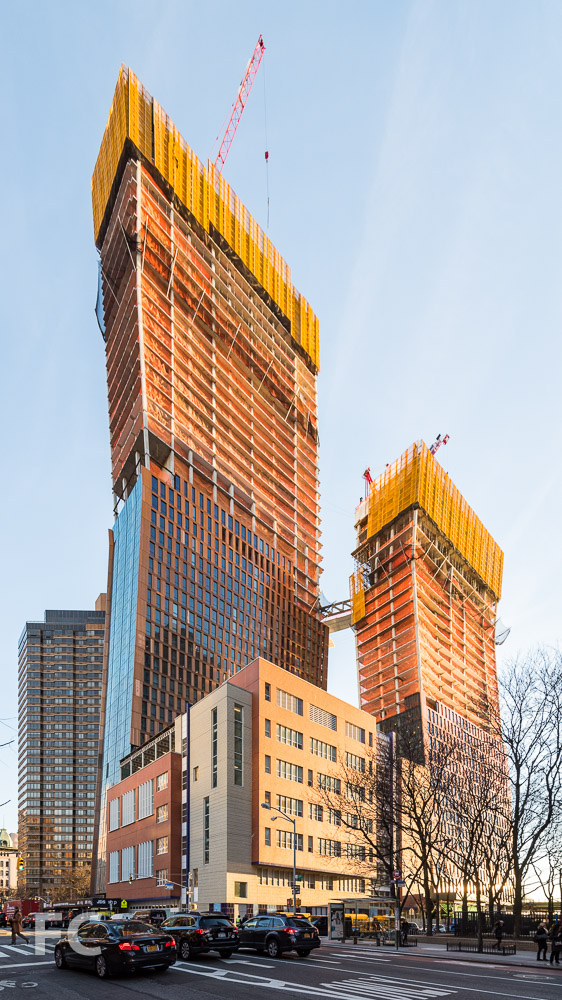Southwest corner of the site from First Avenue and East 35th Street.