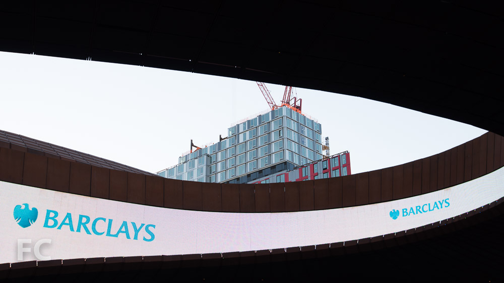 Close-up of the northwest corner of 461 Dean from the Barclays Center.
