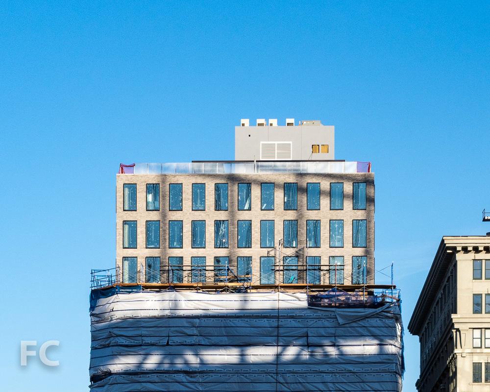West façade.