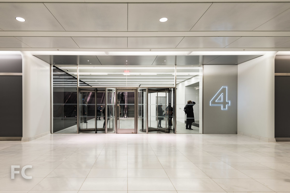 Entry to 4 WTC from the Transportation Hub.
