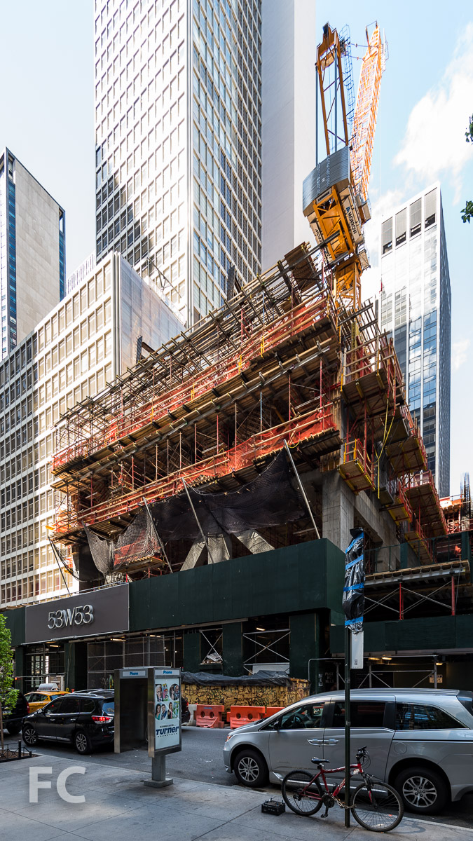 Southeast corner from West 53rd Street.