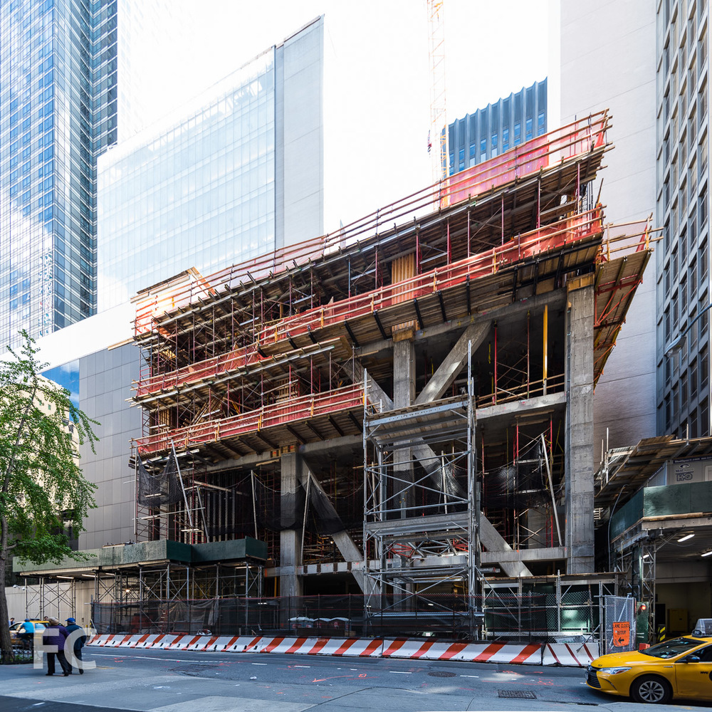 North facade from West 54th Street.