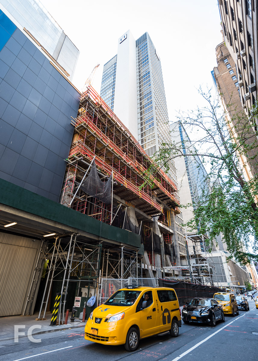 Northeast corner from West 54th Street.