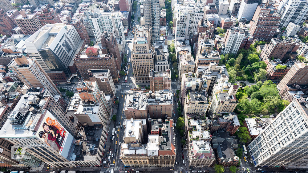 Looking down on the Flatiron District.