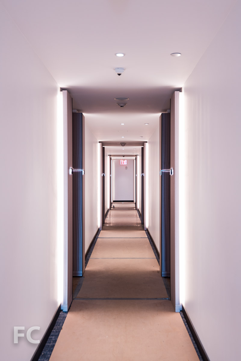 Hotel corridor.